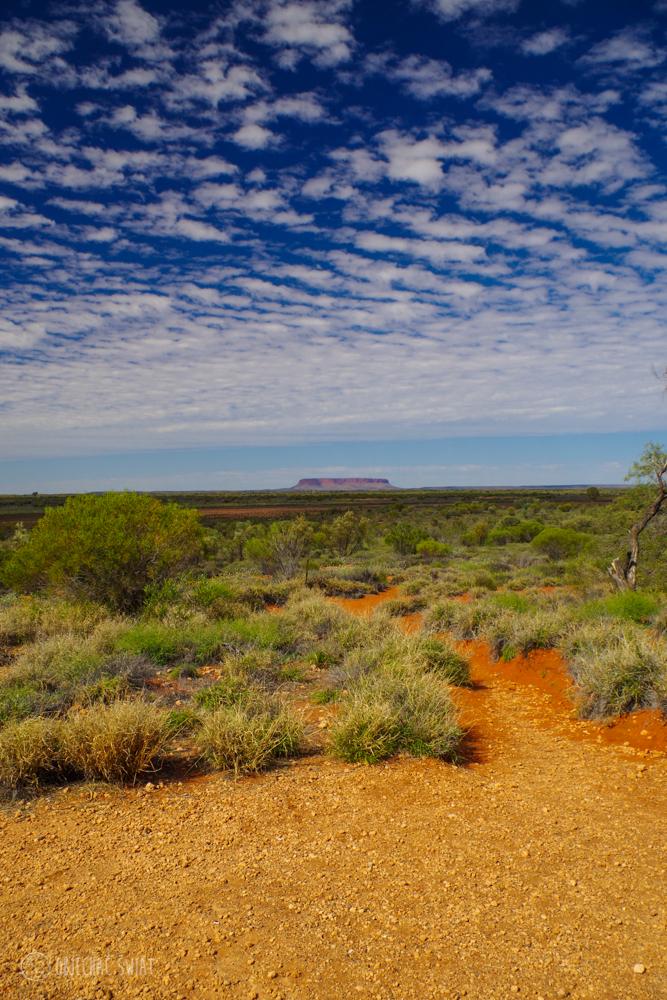 Nie to nie jest Uluru, mimo, że będąc 100 km byliśmy o tym święci przekonani i zdjęć mamy tyle co z Uluru, a to Mt. Connor